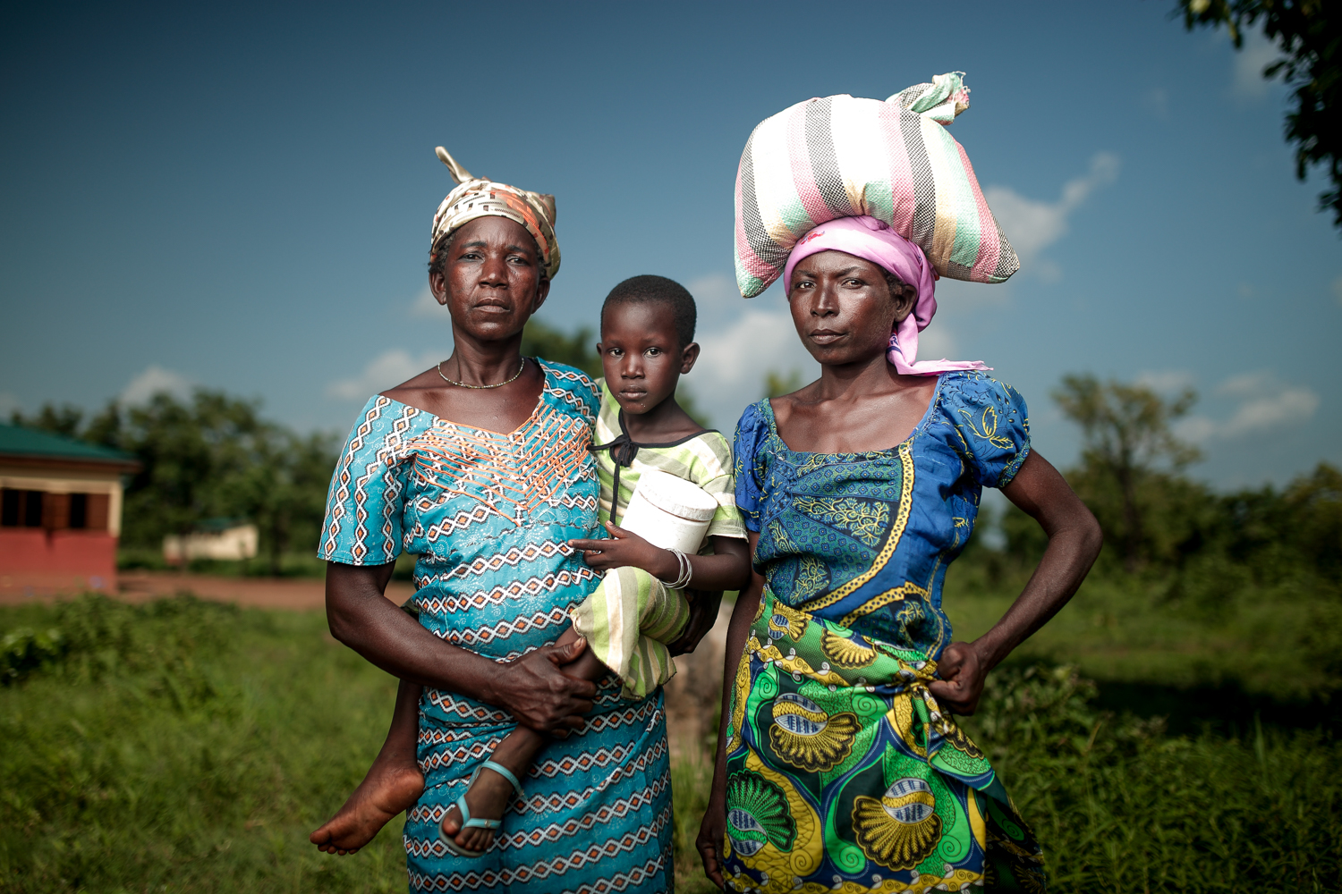 African Woman and family