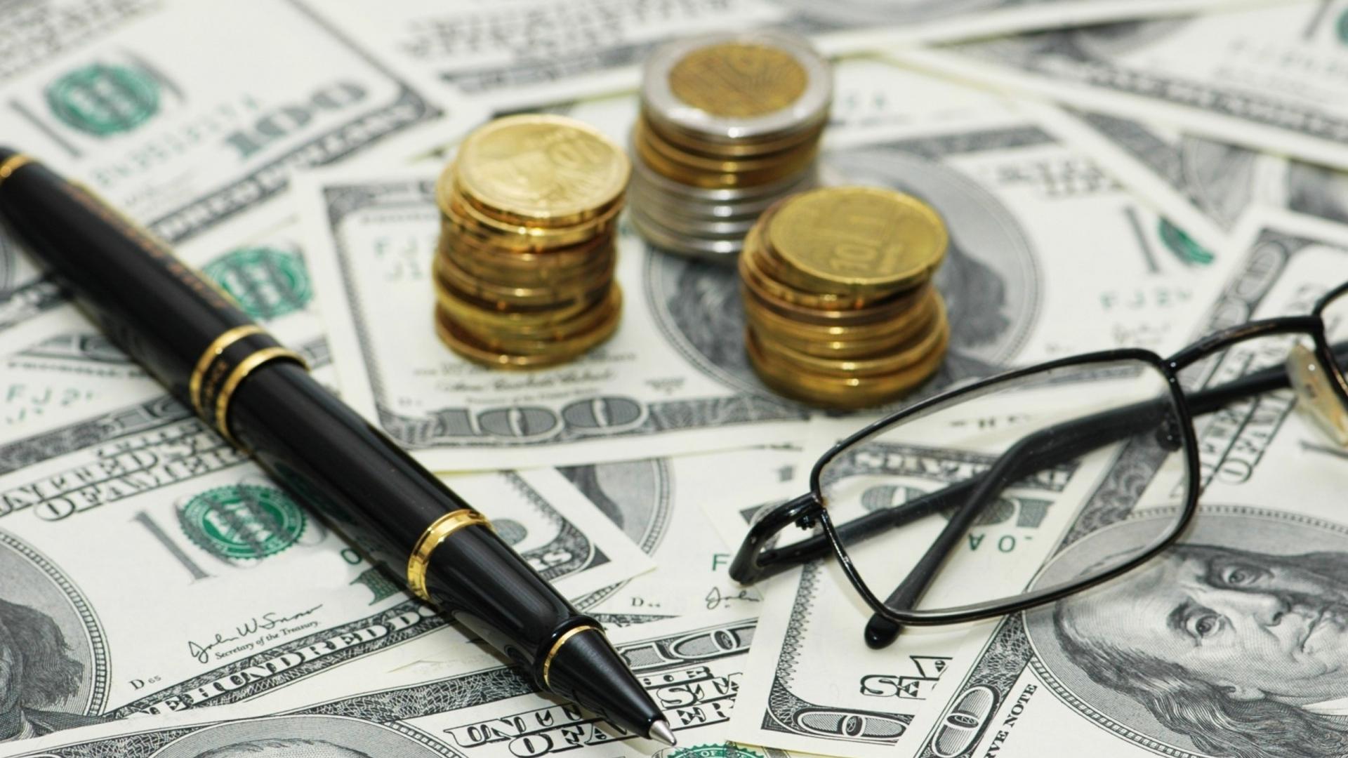 money_bills_coins_pen_glasses_95906_1920x1080
